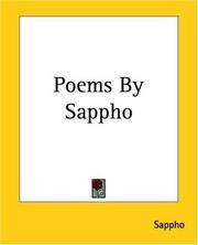 Cover of: Poems By Sappho