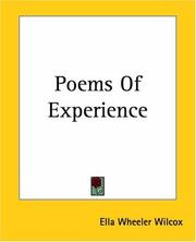 Cover of: Poems Of Experience