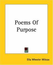 Cover of: Poems of Purpose
