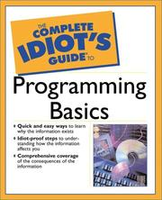 Cover of: The Complete Idiot's Guide to Programming Basics