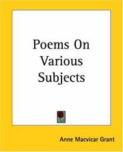 Cover of: Poems On Various Subjects