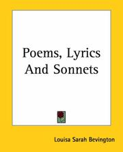 Cover of: Poems, Lyrics And Sonnets