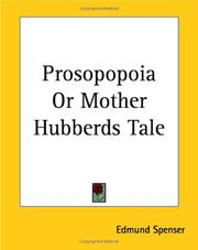 Prosopopoia Or Mother Hubberds Tale