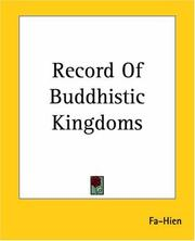 Cover of: Record Of Buddhistic Kingdoms | Fa-Hien