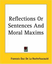 Cover of: Reflections Or Sentences And Moral Maxims