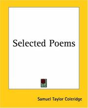 Cover of: Selected Poems | Samuel Taylor Coleridge