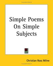 Cover of: Simple Poems On Simple Subjects