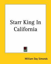 Cover of: Starr King In California | William Day Simonds
