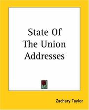Cover of: State Of The Union Addresses | Zachary Taylor