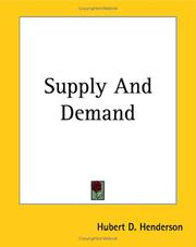 Cover of: Supply And Demand | Hubert D. Henderson