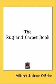 Cover of: The Rug And Carpet Book