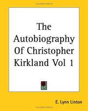 Cover of: The Autobiography Of Christopher Kirkland Vol 1 | Elizabeth Lynn Linton