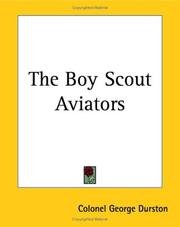 Cover of: The Boy Scout Aviators | George Durston