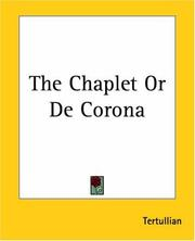 Cover of: The Chaplet Or De Corona