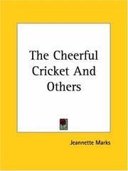 Cover of: The Cheerful Cricket And Others