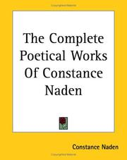Cover of: The Complete Poetical Works of Constance Naden