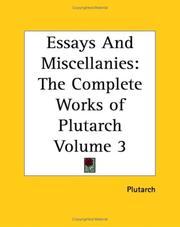 Cover of: Essays And Miscellanies: The Complete Works Of Plutarch