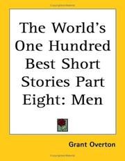Cover of: The World's One Hundred Best Short Stories [In Ten Volumes] volume eight MEN