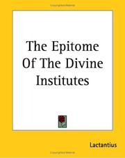 Cover of: The Epitome of the Divine Institutes