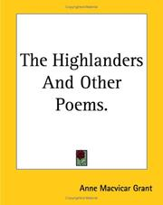 Cover of: The Highlanders And Other Poems