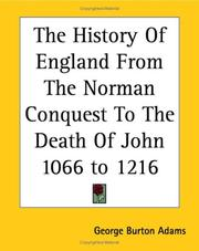 Cover of: The History Of England From The Norman Conquest To The Death Of John 1066 To 1216