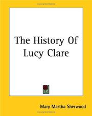 Cover of: The History Of Lucy Clare