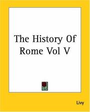 Cover of: The History Of Rome | Titus Livius