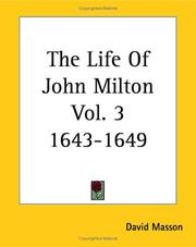 Cover of: The Life Of John Milton 1643-1649