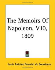 Cover of: The Memoirs Of Napoleon 1809