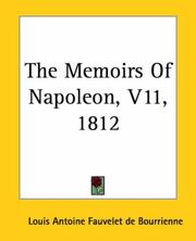 Cover of: The Memoirs Of Napoleon 1812