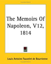 Cover of: The Memoirs Of Napoleon 1814