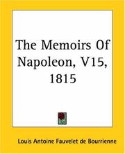 Cover of: The Memoirs Of Napoleon 1815