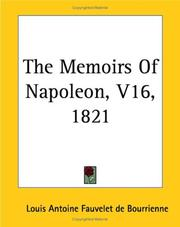 Cover of: The Memoirs Of Napoleon 1821