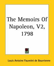 Cover of: The Memoirs Of Napoleon 1798