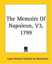 Cover of: The Memoirs Of Napoleon 1799