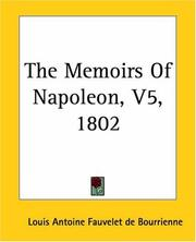 Cover of: The Memoirs Of Napoleon 1802