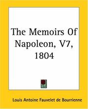 Cover of: The Memoirs Of Napoleon 1804
