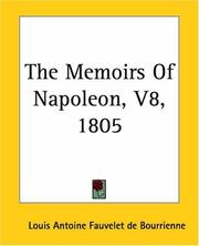 Cover of: The Memoirs Of Napoleon 1805