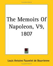 Cover of: The Memoirs Of Napoleon 1807