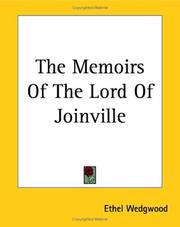 Cover of: The Memoirs of the Lord of Joinville