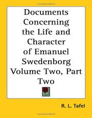Cover of: Documents Concerning the Life and Character of Emanuel Swedenborg Volume Two, Part Two