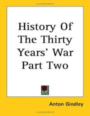 Cover of: History Of The Thirty Years' War Part Two