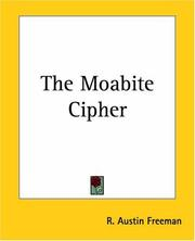 Cover of: The Moabite Cipher