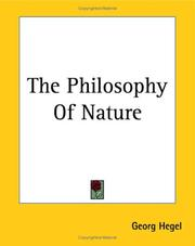 Cover of: Philosophy of nature