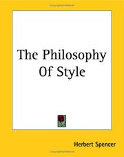 Cover of: Philosophy of style