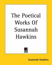 Cover of: The Poetical Works Of Susannah Hawkins
