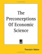 Cover of: The Preconceptions Of Economic Science
