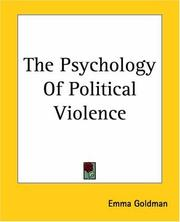Cover of: The psychology of political violence