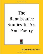 Cover of: The Renaissance, Studies in Art and Poetry