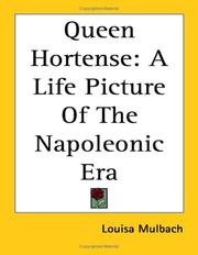 Cover of: Queen Hortense | Luise MГјhlbach